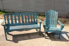 Genial East Texas Handcrafted Rustic Bench And Adirondack! Love. Check Out Their  Facebook Page,