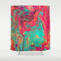 Perfekt Melted Pattern Shower Curtain# Contemporary Bathroom# Accessory