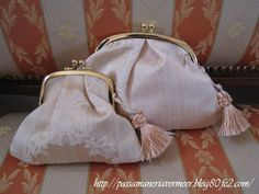 がま口ポーチ・・・「Chez Mimosa シェ ミモザ」     ~Tassel&Fringe&Soft furnishingのある暮らし~     フランスやイタリアのタッセル・フリンジ・ファブリック・小家具などのソフトファニッシングで、暮らしを彩りましょう     http://passamaneriavermeer.blog80.fc2.com/