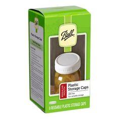Ball Regular Mouth Jar Storage Caps Set of 8 Canning Lids, Canning Recipes, Plastic Mason Jar Lids, Pickled Sweet Peppers, Easy Cucumber Salad, Rhubarb Syrup, Canning Vegetables, Homemade Pickles, Jar Storage