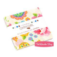 $10 per charm pack! Gypsy Girl Charm Pack Lily Ashbury for Moda Fabrics
