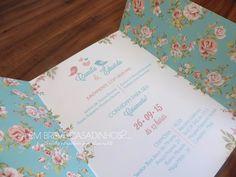 Convite de Casamento - Jardim Romântico