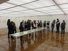 Valter Sacilotto, filho do artista Luiz Sacilotto, acompanhou ontem uma visita à exposição com Marilucia Bottallo junto aos professores e alunos de arquitetura do Centro Universitário Belas Artes de São Paulo.