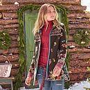 Flared Patterned Merino Wool Sweater Boiled Wool Coat, Merino Wool Sweater, Leather Buckle, Winter Coat, Winter Wonderland, Mantel, Poppies, Knitwear, Felt