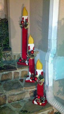 8 Ideas de adornos navideños que van en la entrada de la puerta ~ Manoslindas.com
