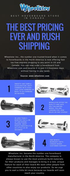 Wheelster The Best Pricing Ever and Rush Shipping Top Social Media, Things To Come, Good Things, Electric Scooter, Number One, North America, Canada, Ship, Learning
