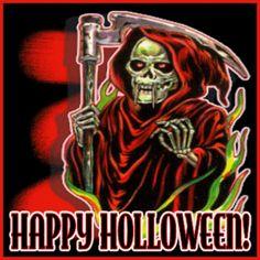 Animated Smoldering Grim Reaper | Grim Reaper happy Halloween