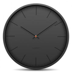 'tone wall clock - black' by wiebe teertstra for leff amsterdam