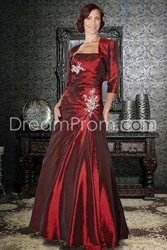 Sheath/Column Strapless Floor Length Mother Of The Bride Dresses Under 200