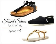 As a long term traveler constantly chasing the sun, beach, and underwater adventure, my current choice of travel shoes are slip-ons, ipanema hybrid flip-flops, and birkenstocks.