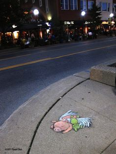 Delightful 3D Chalk Art Of Adorable Little Creatures Pop Up On Streets
