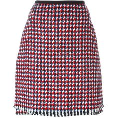 Odeeh Tweed a-Line Skirt ($414) ❤ liked on Polyvore featuring skirts, multicolour, multi color skirt, colorful skirts, multi colored skirt, tweed skirt and tweed a line skirt