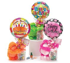 Happy Birthday! At least you're not as old as you will be next year! Get these cute candy baskets with balloons and monkeys! #HappyBirthday #gifts #gift #monkeys #socute #smallbiz http://celebratewithussales.com/birthdayCart.html