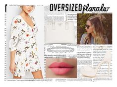 """""""Oversized Florals"""" by juultje-1177 ❤ liked on Polyvore featuring Oh My Love, Nly Shoes, Prada, Epoque and LORAC"""