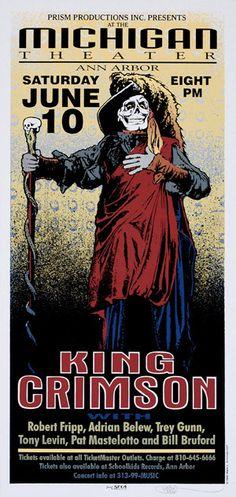 concert poster for King Crimson. Design by Mark Arminski.