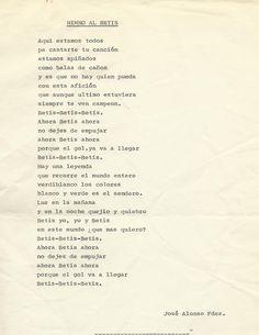 Primer Himno del Betis 1907