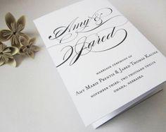 Wedding Programs Trifold Wedding Programs by LittleSparkCreations