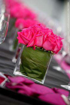 simple rose centerpiece