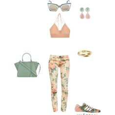 #aka by atlienfashioned on Polyvore featuring polyvore, fashion, style, Juan Carlos Obando, Current/Elliott, adidas Originals, Fendi, Rina Limor and Ippolita