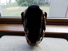 vintage 25  glass bead necklace by JoyceBartoli on Etsy, $20.00