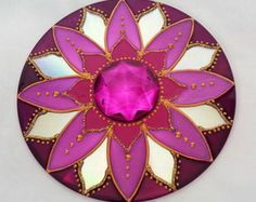 Mandala em CD Pink