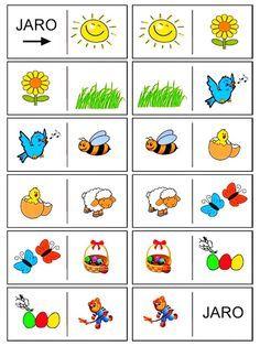 Pictogram, Teaching Kids, Montessori, Kindergarten, Crafts For Kids, Seasons, School, Spring, Bingo