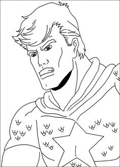 Captain America Målarbilder för barn. Teckningar online till skriv ut. Nº 8