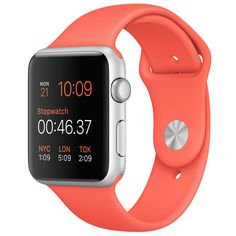Aenmil® Fashional Apple Watch Band, Soft Silicone Sport Style Replacement Strap Wrist Band iWatch Strap Watchband Replacement for Apple Watch Models in (Orange) Buy Apple Watch, Apple Watch Series 2, Apple Watch Bands, Buy Watch, Sport Watches, Cool Watches, Watches For Men, Stylish Watches, Steve Jobs