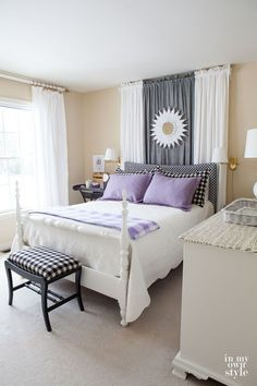 Guest room bed ideas that will make your guests have a good night stay. In My Own Style Pretty Bedroom, Dream Bedroom, Guest Bedrooms, Guest Room, Cottage Bedrooms, Home Decoracion, Woman Bedroom, Home And Deco, My New Room