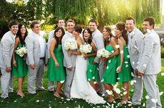 Green bridemaids dresses