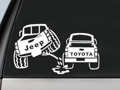 Hey, I found this really awesome Etsy listing at https://www.etsy.com/listing/167142288/jeep-peeing-on-toyota-decal-car-window