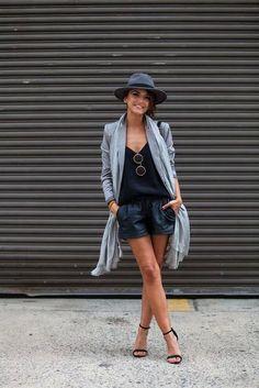 Chic street style. Black Elastic Shortsvia Romwe