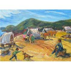 Sonia Cornwall - 1958 Stampede Camp #2, oil painting,  2002
