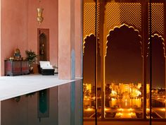 The property features 89 well-appointed, spacious guest rooms, including 15 luxurious suites, spread between the main palace and four riads. All rooms and suites enjoy views over the atlas mountains, the palmeraie desert landscape or the pool and gardens.