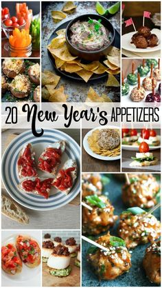 Looking for New Year's Eve appetizers? You've found 20! I'm always looking for new and easy recipes for parties, and these recipes are from some of the best food bloggers out there!
