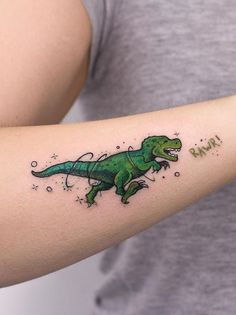 Mini Dino Tattoo