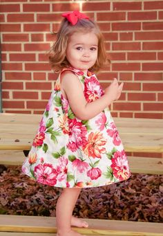 This reversible a-line dress sewing pattern will teach you how to make the perfect a-line dress for a baby girl or toddler sizes 0-24 months!