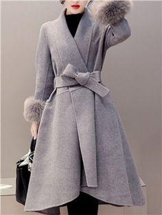 新作 全3色 フェイクファー(取り外し可)リボン飾り ふわふわ 高質 アウターコート