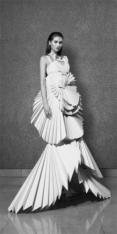 Paper Dress by Louise Goldin