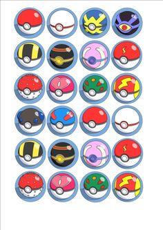 Pokemon Mixed Pokeball Edible Fairy Cup Cake Decoration Toppers Rice Paper x 24 Festa Pokemon Go, Pokemon Mix, Pokemon Games, Pokemon Cupcakes, Pokemon Cake Topper, Anniversaire Cow-boy, Pokeball Cake, Monster Party, Festa Toy Store