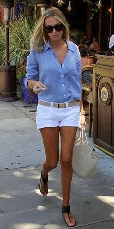 50 beste Sommer-Outfits mit Denim-Shorts – Page 21 of 69 – 50 beste Sommeroutfits mit Jeansshorts Mode Outfits, Casual Outfits, Fashion Outfits, Denim Outfits, Fashion Ideas, Fashion Hacks, Casual Jeans, White Short Outfits, Classy Shorts Outfits