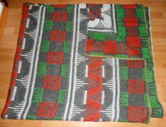 vintage woollen blanket sample from our collection 2014 retro oude wollen deken alte wolldecke
