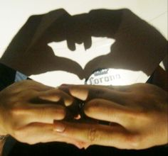 Be honest, how many of you saw this and started trying to do the batman symbol with your hands? :)