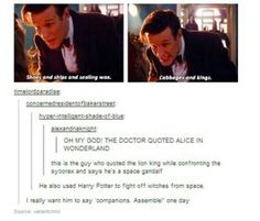 The Doctor is a geek