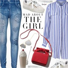 Sunday Relax by pokadoll on Polyvore featuring moda, Puma, Knork, Kershaw, polyvoreeditorial and polyvoreset