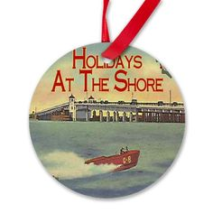Jersey Shore Holiday Round Ornament