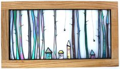 Tall Trees - Stained Glass Art... Would look great as a Batik design as well.