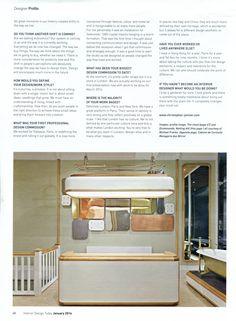 Christopher Jenner designed two of Drummonds' London bathroom showrooms.. drummonds-uk.com Interior Design Today January 2016