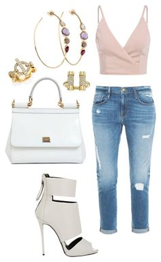 """Untitled #1516"" by cecilia-rebecca-stagrum-buch on Polyvore featuring Ippolita, Dolce&Gabbana, Giuseppe Zanotti, Frame Denim and Michael Kors"