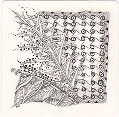 I used the tangles Cadent, Verdigogh and Shattuck, plus lots of dots.